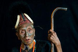 Nagaland, Konyak tribal elder